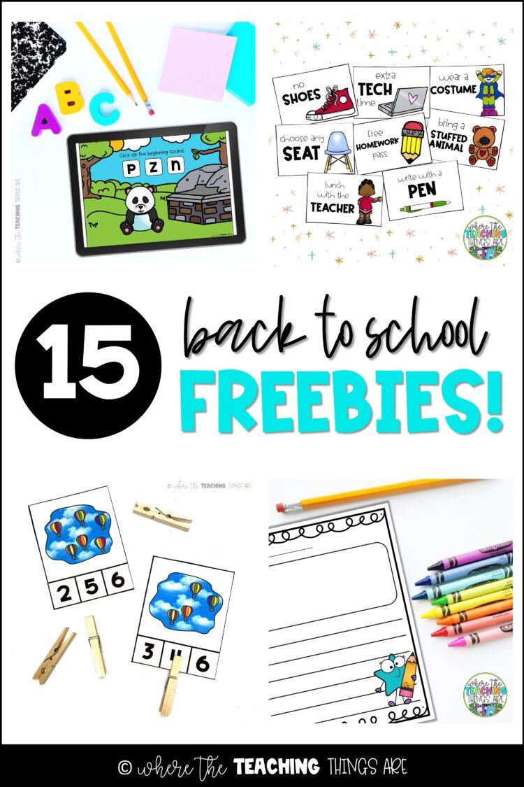 15 Back to School FREEBIES!