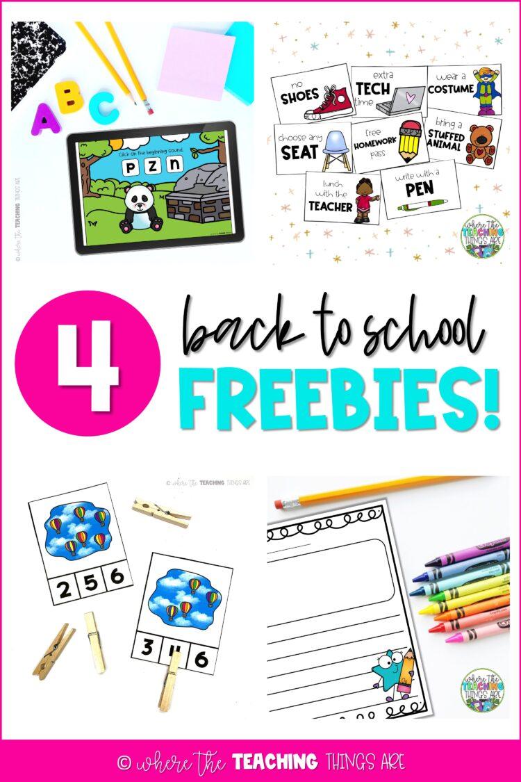 4 Back to School FREEBIES!