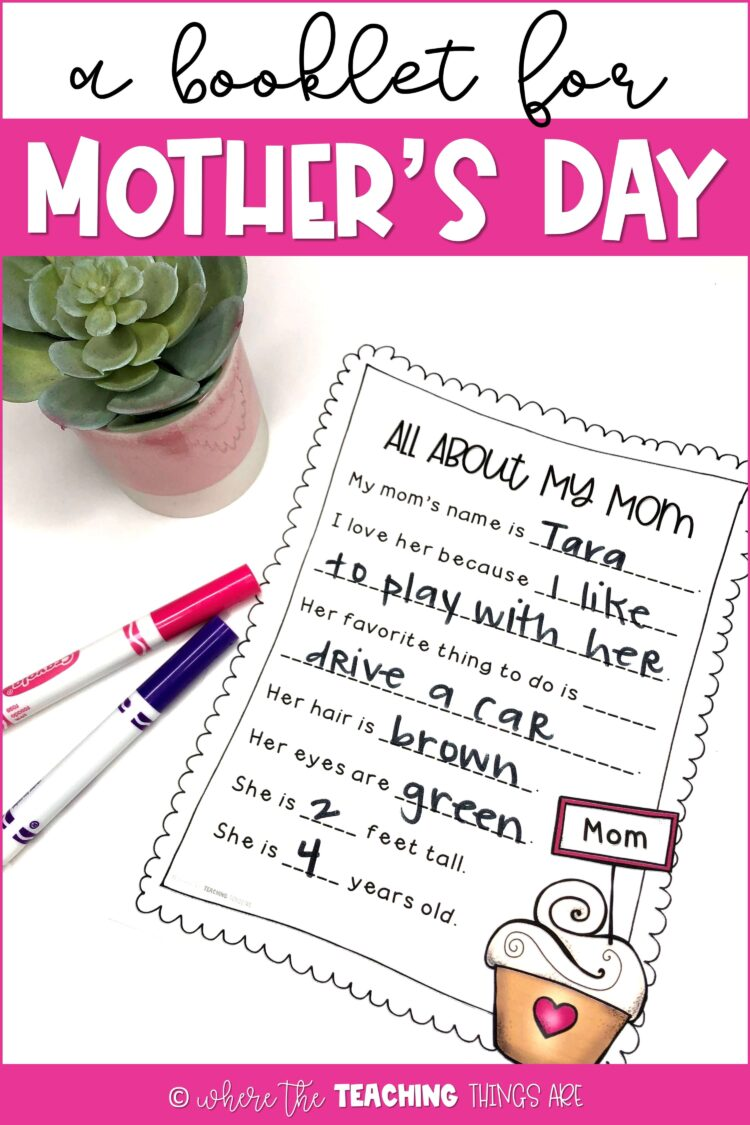 Cute Mother's Day Booklet