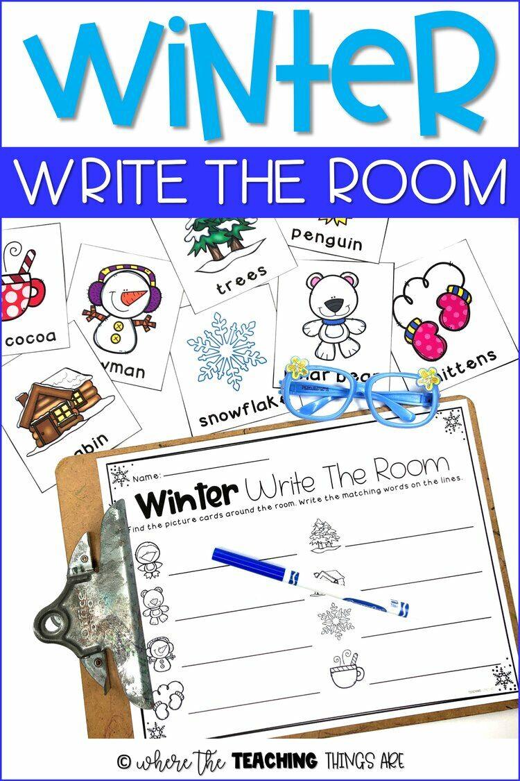 Winter Write the Room Fun!